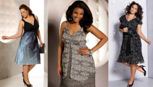 модели платьев для полных 2012