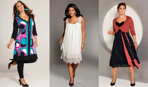 модели платьев для полных девушек