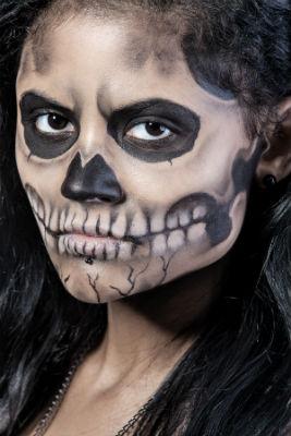 грим Смерти на Хэллоуин