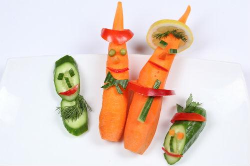 Как сохранить овощи в поделке 3