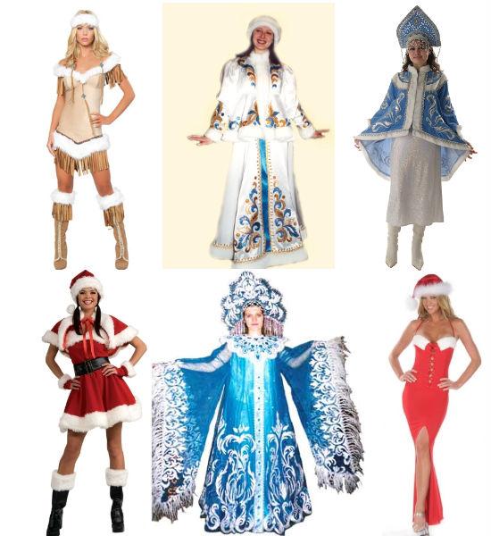 карнавальный костюм Снегурочки