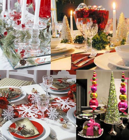 украшение праздничного новогоднего стола фото
