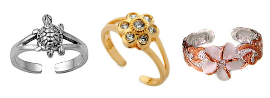 кольцо на пальце ноги - разорванная форма