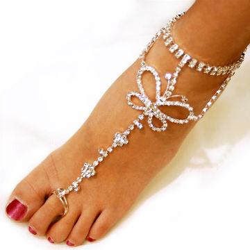 браслет с кольцо на пальце ноги