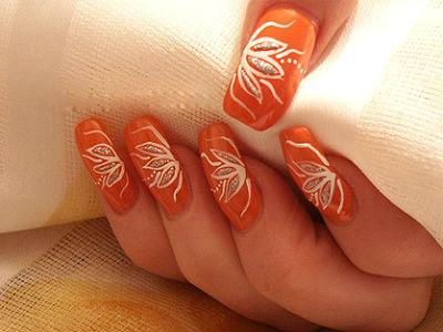 узоры на ногтях иголкой
