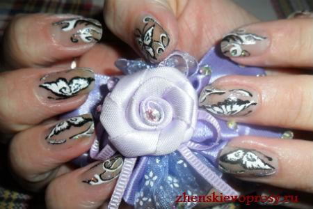 """рисунок на ногтях """"Бабочки"""""""