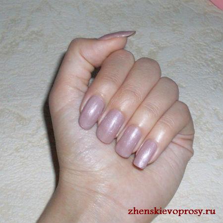 оттенок лака Nude на ногтях