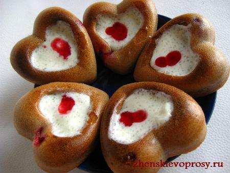 сладкие валентинки из бисквита