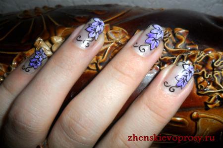 "дизайн ногтей ""Цветы"""