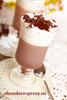 """Новогодний десерт """"Горячий шоколад с взбитыми сливками"""""""
