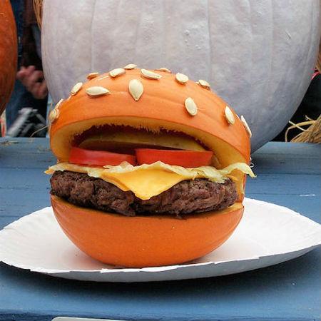 тыквенный гамбургер