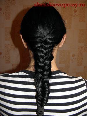 """плетение косы """"рыбий хвост"""""""