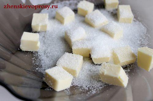 добавить сахарный песок
