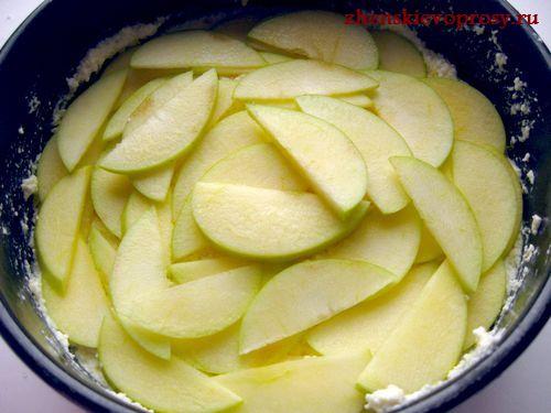 выложить яблоки в форму
