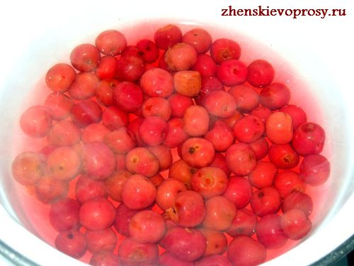 сварить ягоды вишни