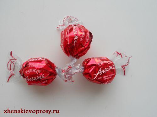 """скрепление конфет для открытого """"бутона"""""""