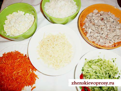 компоненты салата