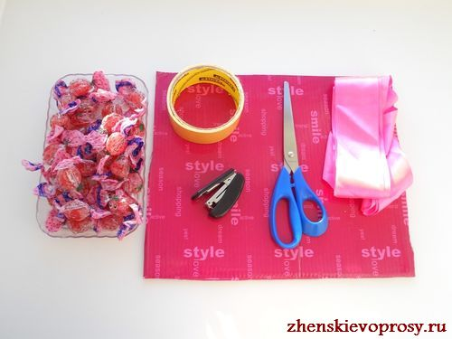 материалы для конфетного сердца