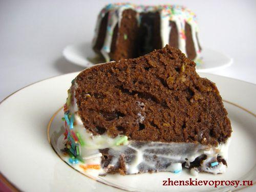 шоколадный кекс с апельсиновой цедрой