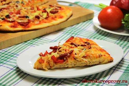 пицца в домашних условиях