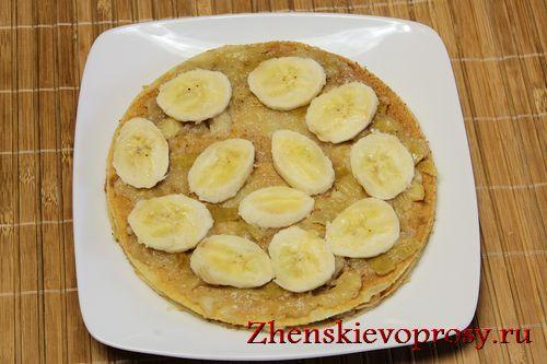 начинка для блинного торта (бананы)