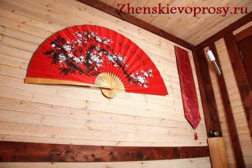 веер - один из элементов декора дома в японском стиле