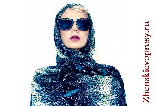 Стильный головной платок