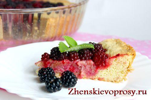 ежевичный пирог фото