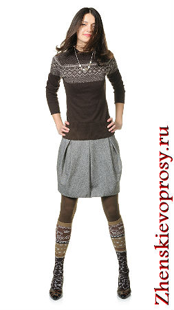 зимняя юбка-мини