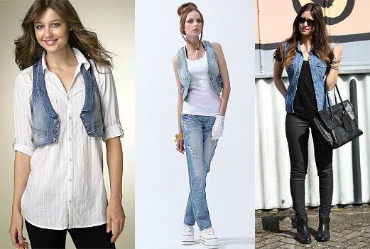 джинсовая жилетка с джинсами