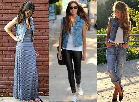С чем носить джинсовую жилетку?