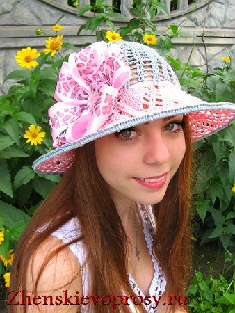 летняя шляпка вязаная крючком