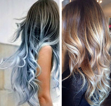 Волосы разного цвета