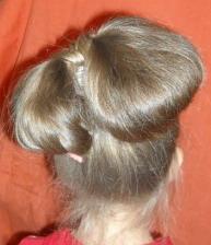 бант из волос фото