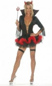 костюм дьявола для девушки на хэллоуин