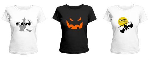 женские футболки на Хэллоуин