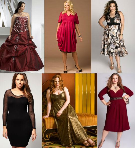 новогодние платья для полных