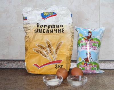 ингредиенты для теста на блины