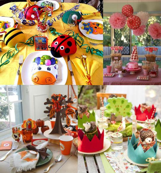 украшение праздничного детского стола фото