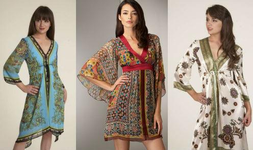 женское платье кимоно
