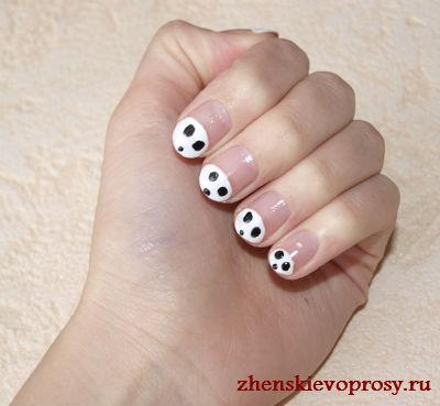 рисунок на ногтях панда фото