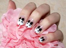 маникюр панда