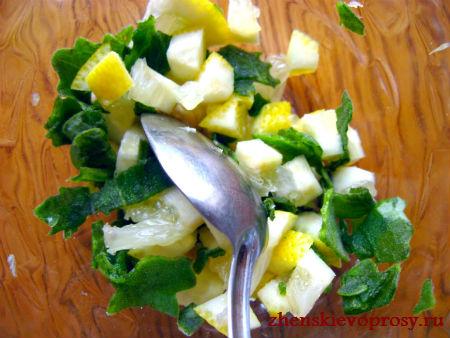 лимонно-мятная смесь