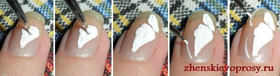 бабочка на ногте