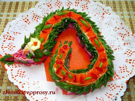 салат на Новый 2013 год