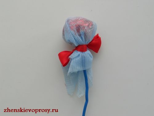 стебель для конфетного цветка