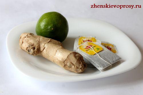 ингредиенты для чая от простуды