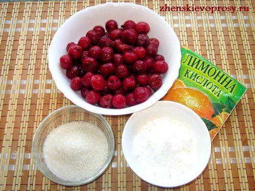 ингредиенты для вишневого киселя