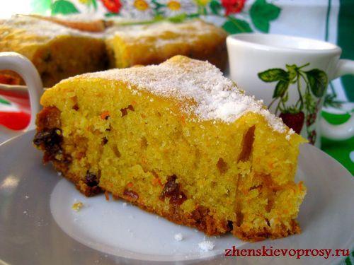 морковный пирог фото