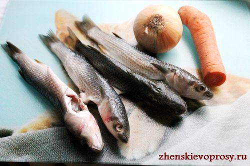 ингредиенты для фаршированной рыбы